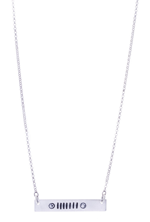 Jeep Grill Necklace - Silver