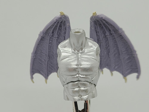 Custom WINGED > Chrome Male Torso with wing holes (NO WINGS INCL.)