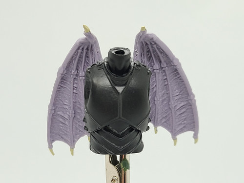 Custom WINGED > Black Knight Torso with wing holes (NO WINGS INCL.)