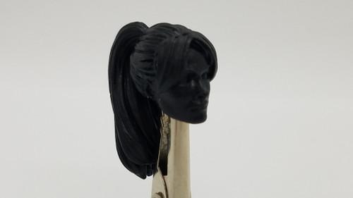 Black Female Pony Tail head