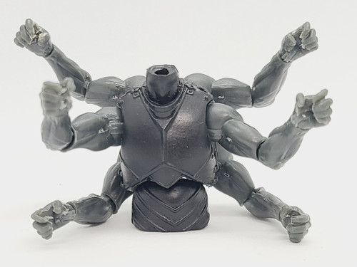 Custom ARMED > Black Knight 6-armed Torso (WITH arms and hands)