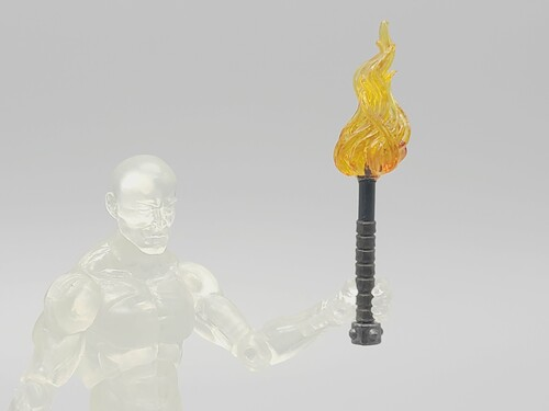 Torch with Orange Flame (Custom)