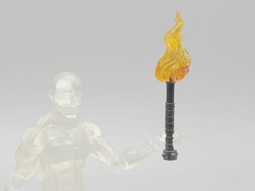 Metal Torch with Orange Flame (Custom)
