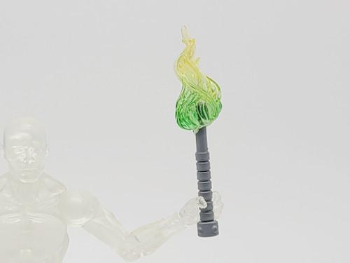 Wolf Grey Torch > Yellow/Green Flame (Custom)