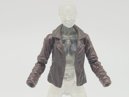 Female Zombie Fighter Brown Leather Jacket