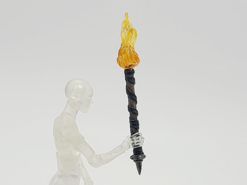Wooden Torch with Orange Flame (Custom)