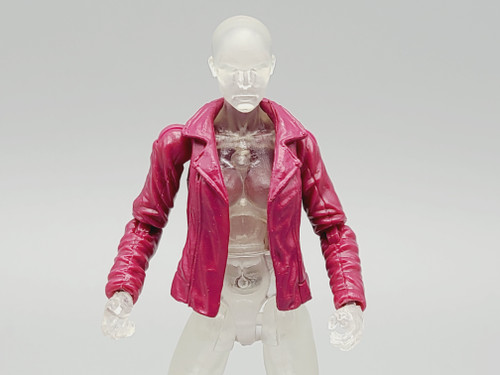 Magenta Ladies Leather Jacket