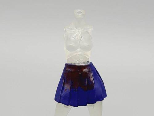 Magenta Ladies Blue School Girl Skirt (bloody)