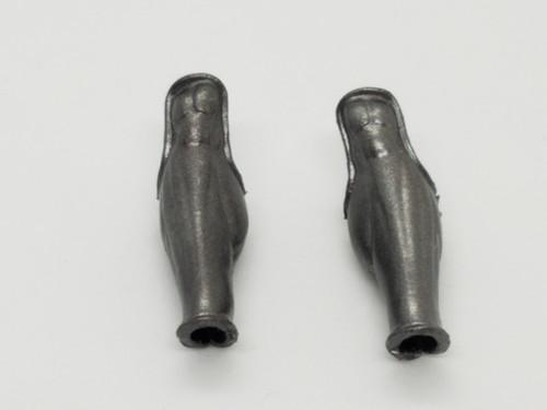 Aged Steel Amazon Leg Armor