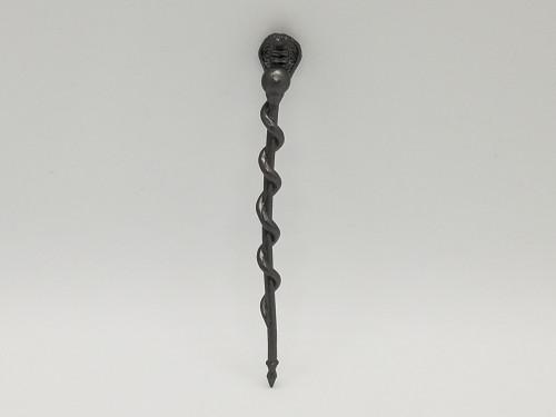 Aged Steel Snake Staff