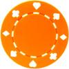 Set 25 Jetoane poker model suited culoare portocalie