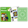 Carti profesionale de poker MODIANO 100% plastic cu index mare pe 4 colturi verde deschis