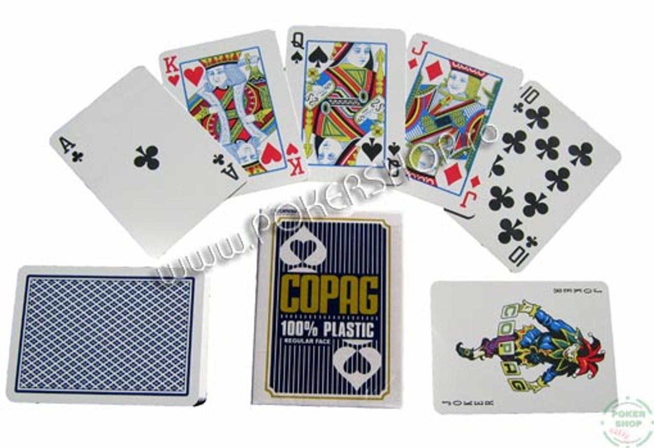 Carti de Poker profesionale COPAG  si spate albastru
