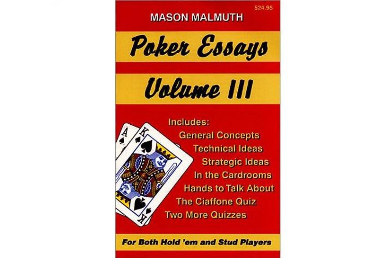 Poker Essays Vol.3 de Mason Malmuth - carte cu informatii pentru jucatorii de texas holdem poker