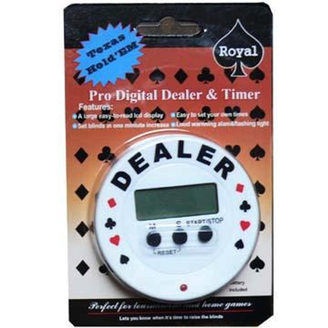 Buton de dealer electronic profesionist forma rotunda