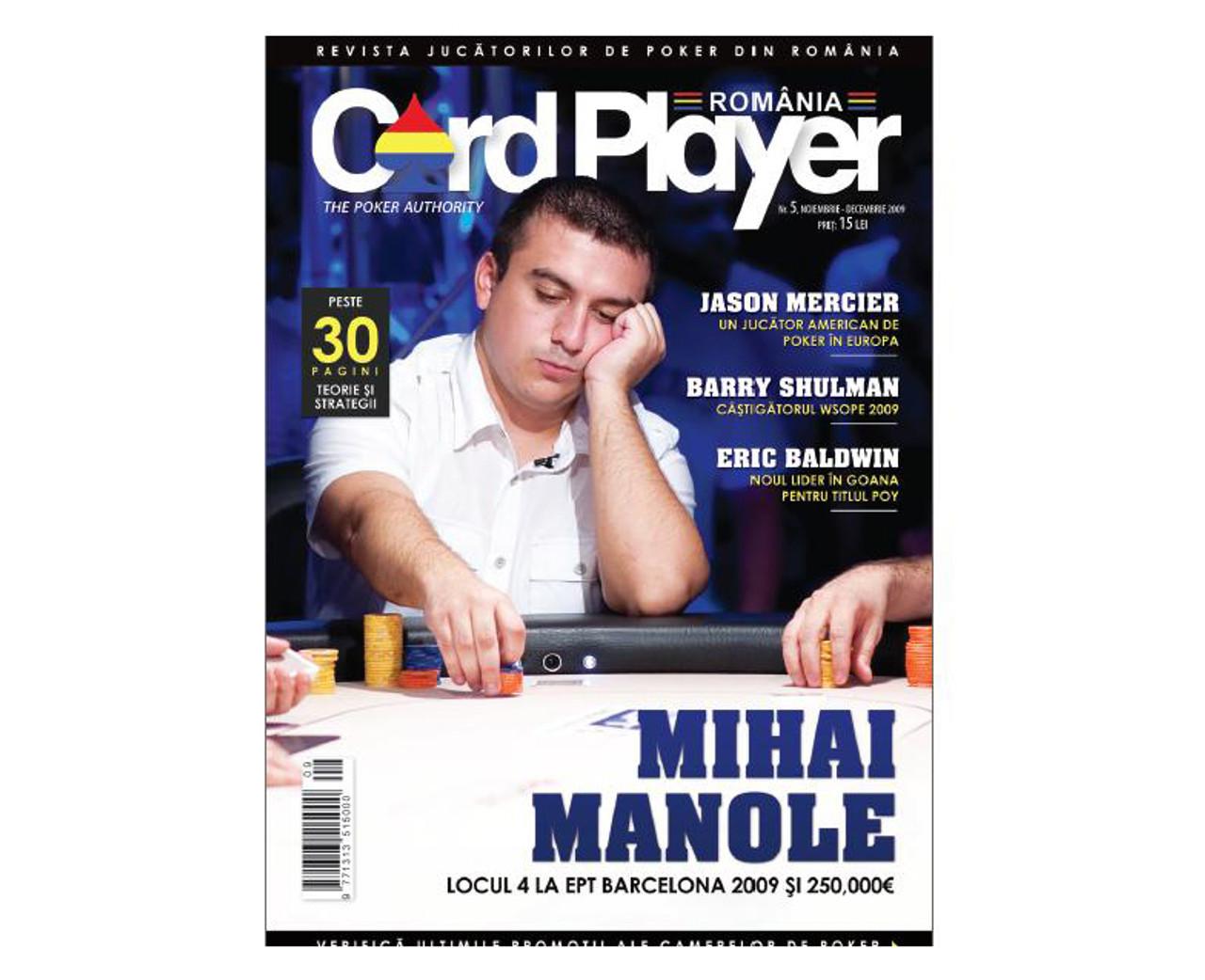 Card Player Magazine Romania nr.5 Revista Noiembrie-Decembrie 2009
