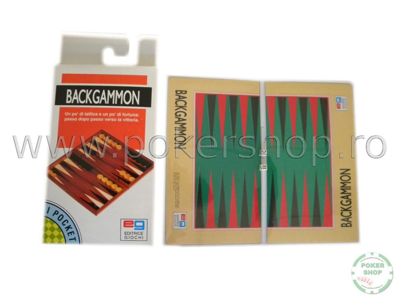 Set Joc Table/Backgammon din plastic pentru calatorii