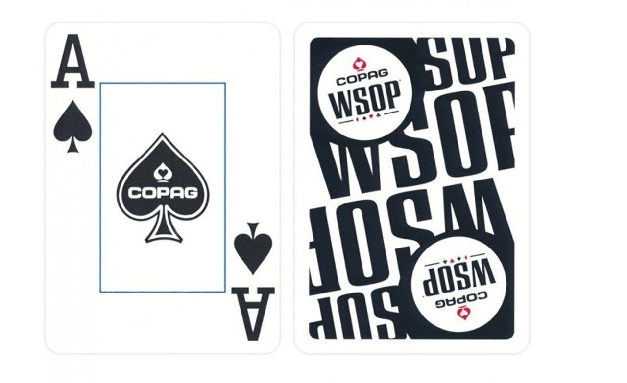 Carti profesionale WSOP 100% plastic cu JUMBO index si spate negru