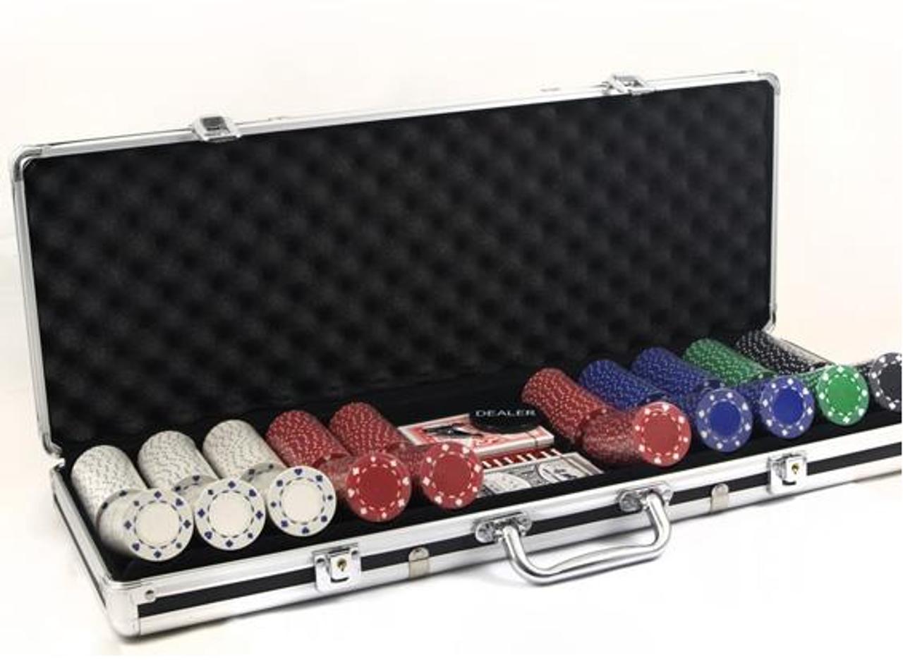 Set jetoane SUITED - Set de poker cu 500 de jetoane de 11.5 g, neinscriptionate
