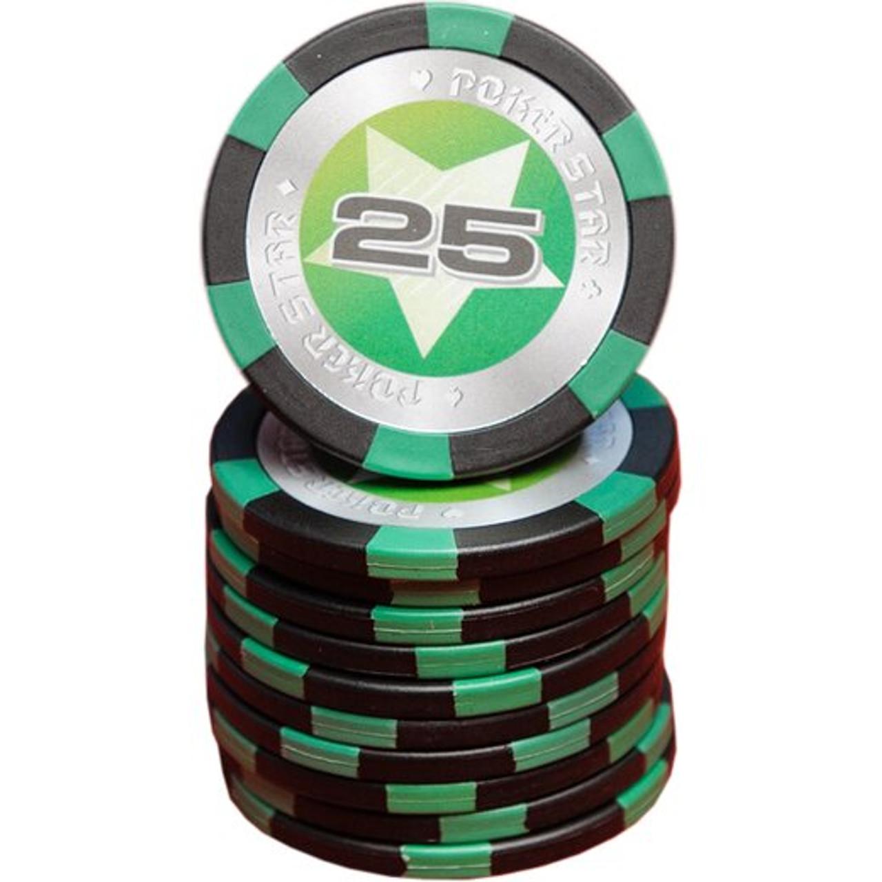 Set 500 jetoane pentru poker model Pokerstar, 13 gr + CADOU un pachet de carti 100% plastic Dal Negro