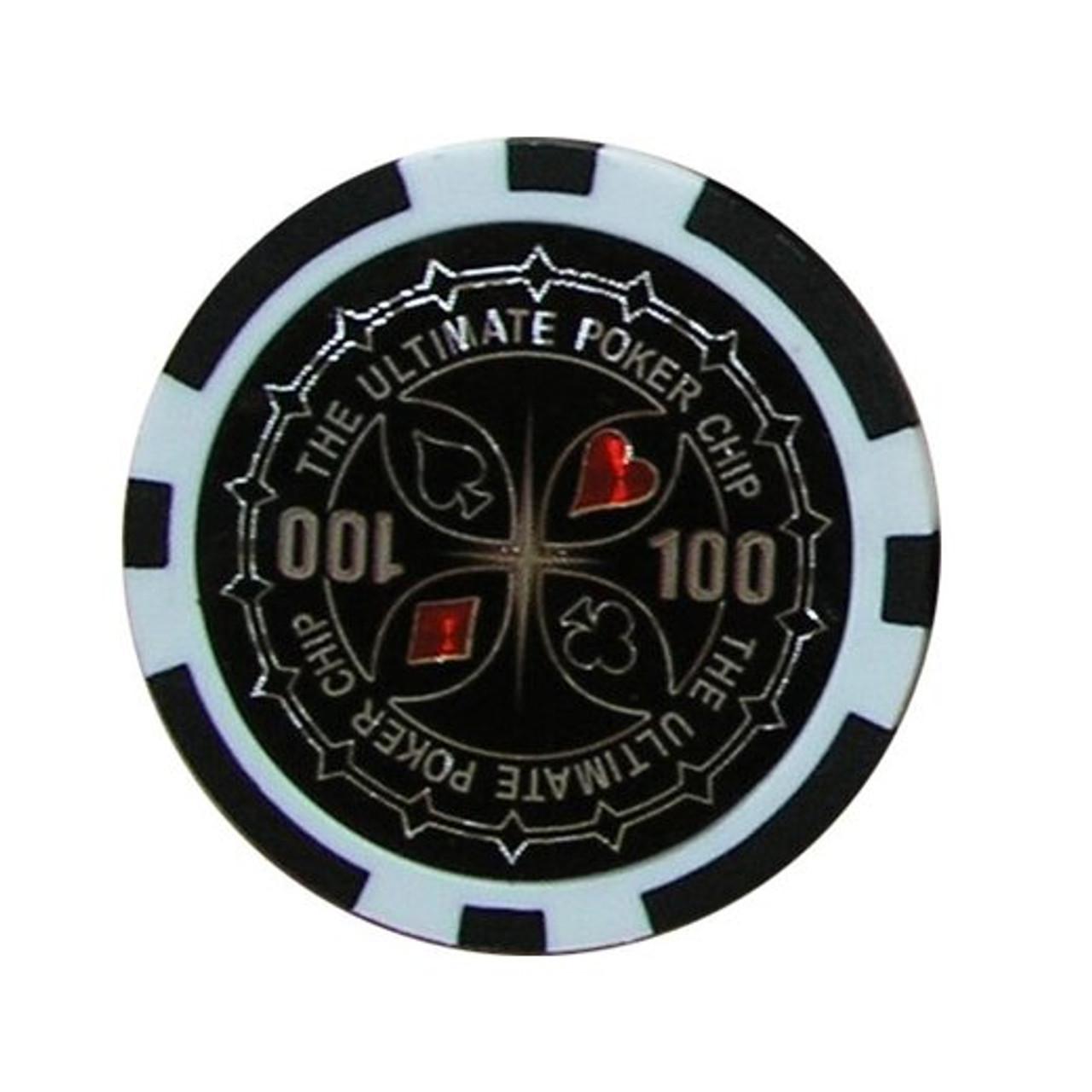 Set 300 jetoane pentru poker model Ultimate, 11.5 gr in servieta de aluminiu+ CADOU un pachet de carti 100% plastic Dal Negro
