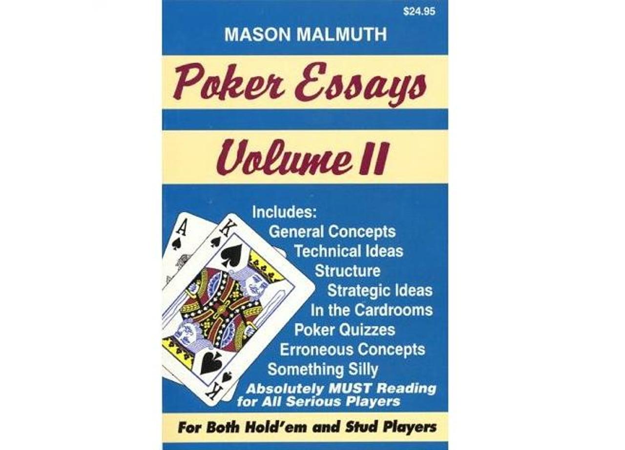 Poker Essays Vol.2 de Mason Malmuth - carte de citit cu sfaturi pentru texas holdem poker