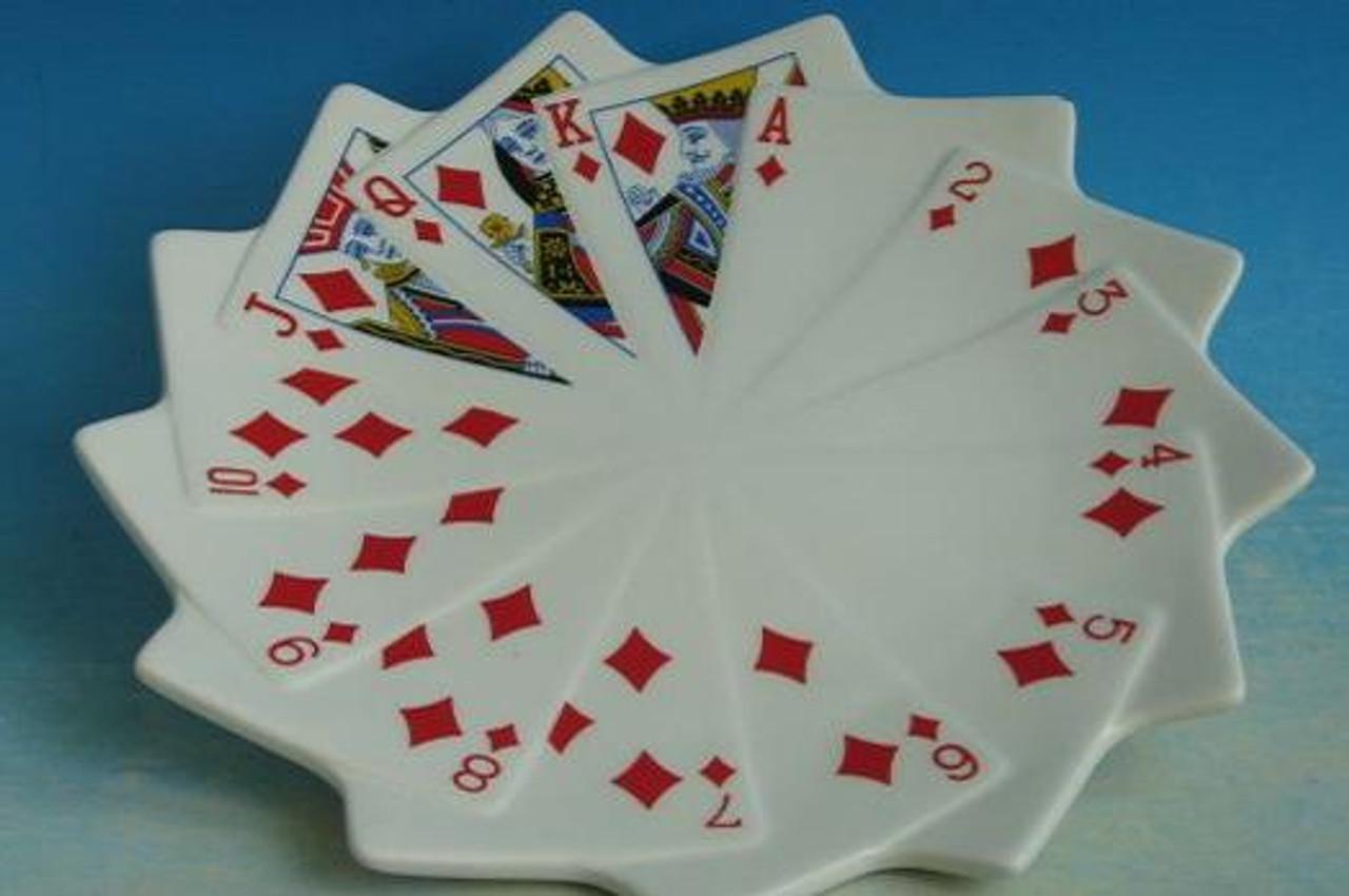Platou Decorativ Carti de Joc model Romb