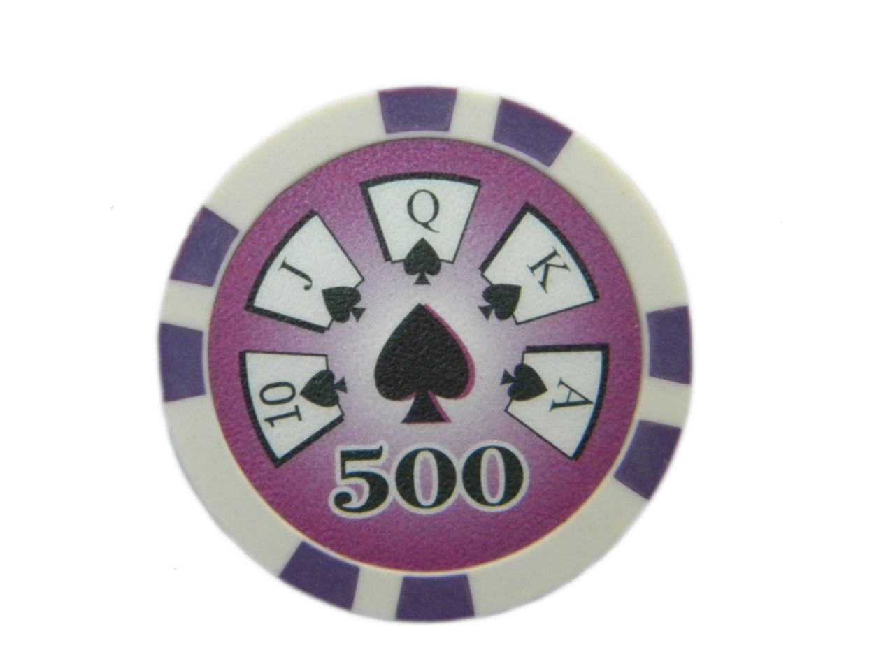 Fisic 25 jetoane Royal Flush - Mov - Valoare printata : 500