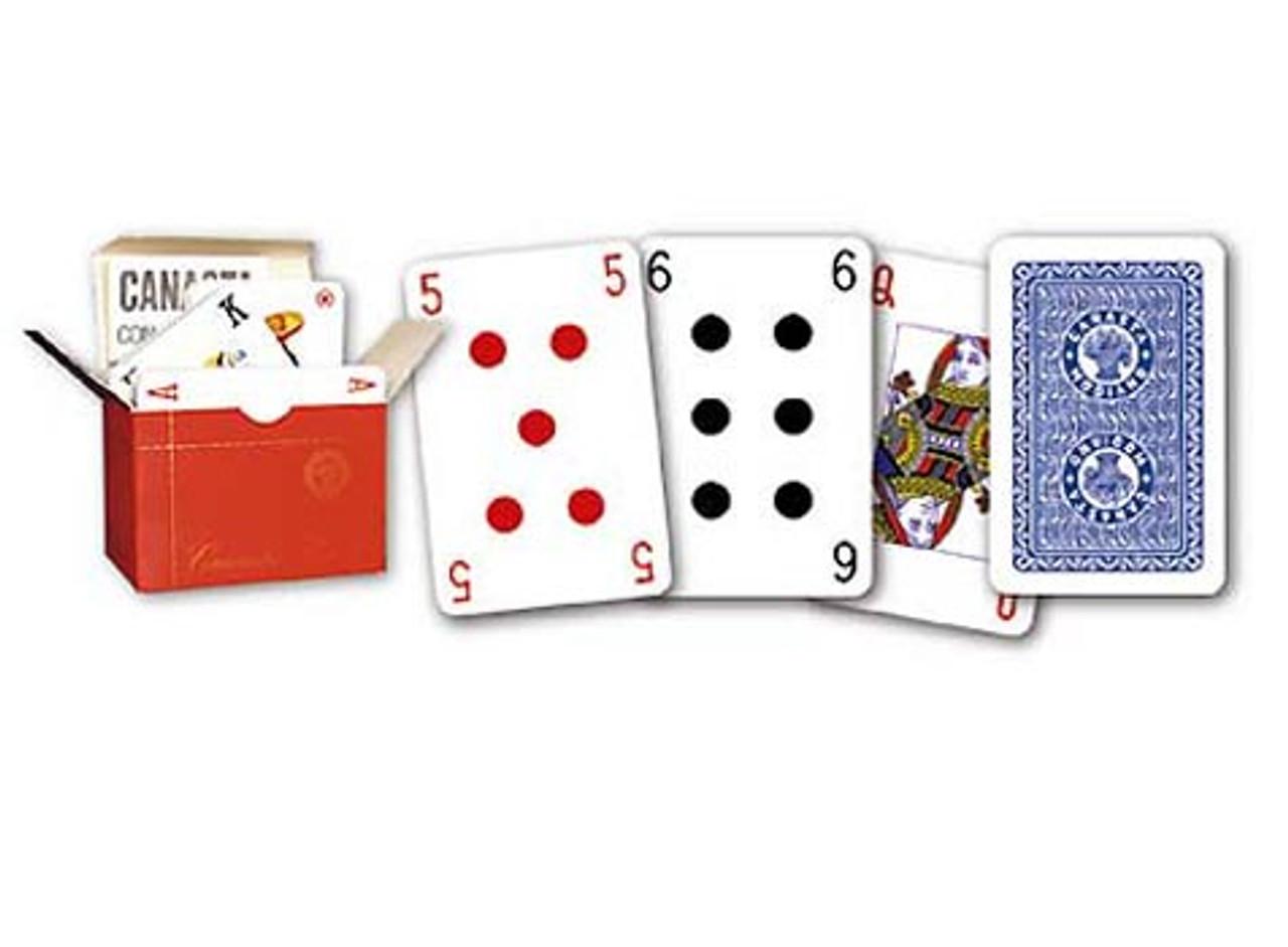 Set cu 3 pachete de carti speciale pentru canasta