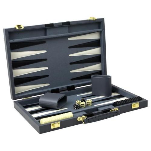 Set joc Table deluxe in servieta pentru table neagra din piele ecologica 38x50 cm