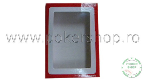 Cutie din Carton Modiano pentru carti de joc rosie