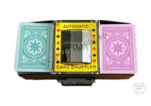 Amestecator carti de joc automat pana la 2 pachete carti de joc