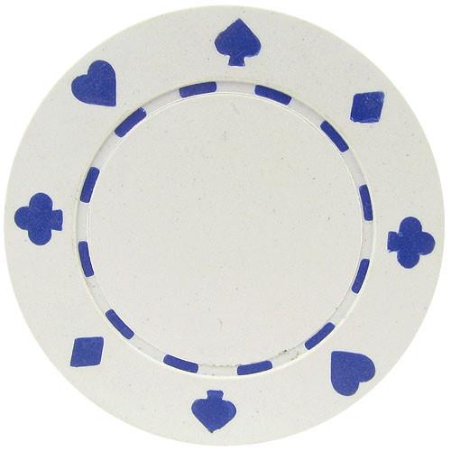Set 25 Jetoane poker model suited culoare alba