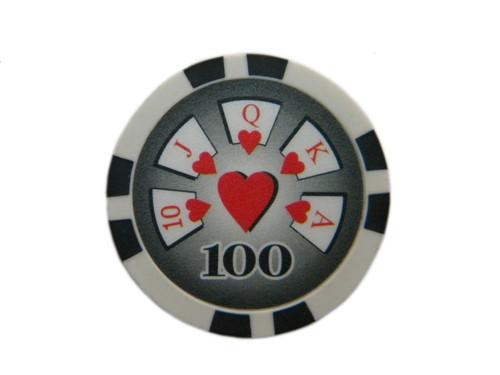 Fisic 25 jetoane Royal Flush - Negre - Valoare printata : 100