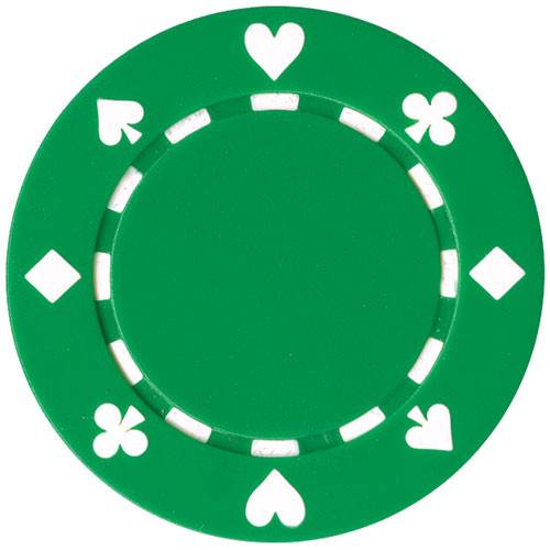 Set 25 Jetoane poker model suited culoare verde