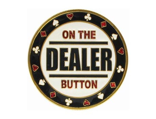 Poker Card Guard - DEALER - ON THE BUTTON