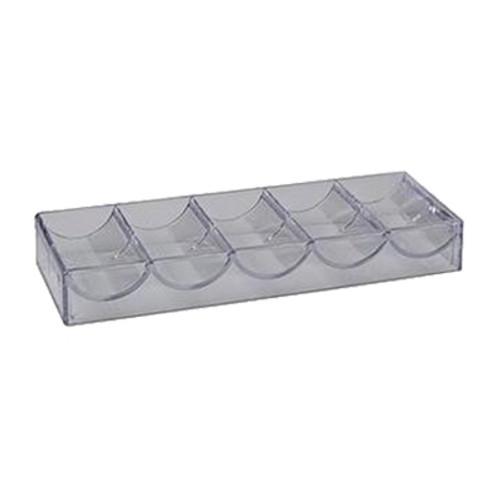 Suport tavita din acryl transparent fara capac, pentru 100 de jetoane
