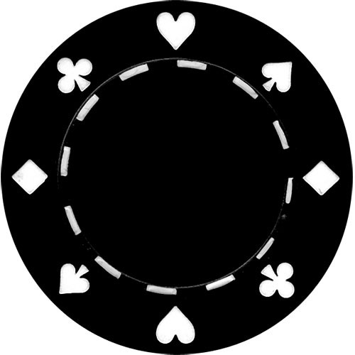 Set 25 Jetoane poker model suited negre