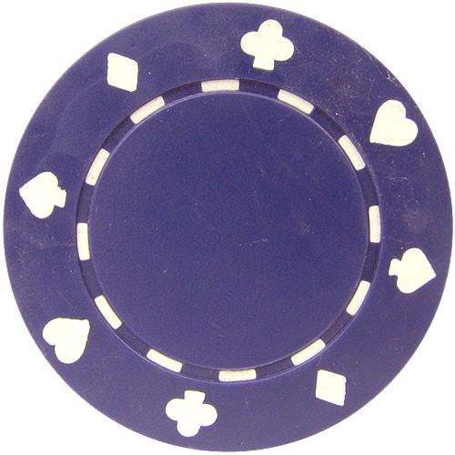 Set 25 Jetoane poker model suited albastre