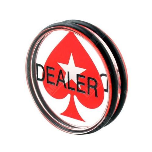 Buton de dealer acryl transparent pentru poker