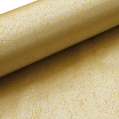 """Asahi Japanese Bookcloth - Gold Crackle 39"""" Wide - 1 foot"""