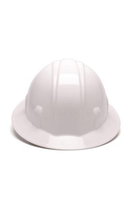 Full Brim Hard Hat/Ratchet - White