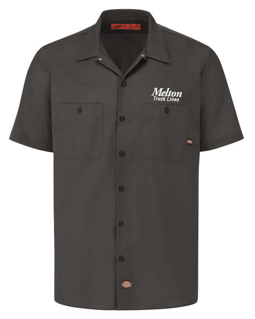 NEW - DICKIES Industrial Short Sleeve Work Shirt - DARK CHARCOAL