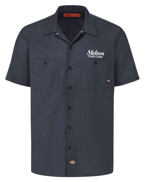 NEW - DICKIES Industrial Short Sleeve Work Shirt - DARK NAVY