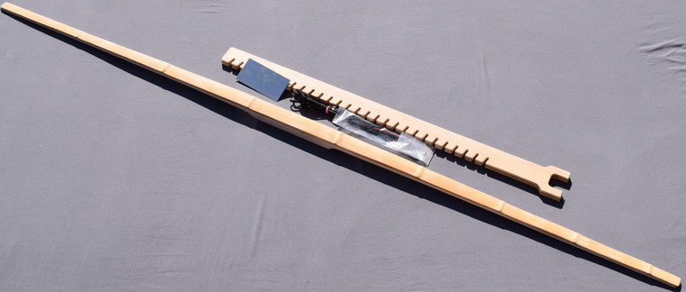 "72"" Bamboo backed Hickory longbow stave kit"