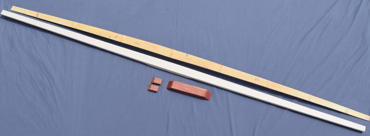 """72"""" Bamboo backed hickory Parts Kit"""