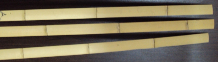 Bamboo backing strips