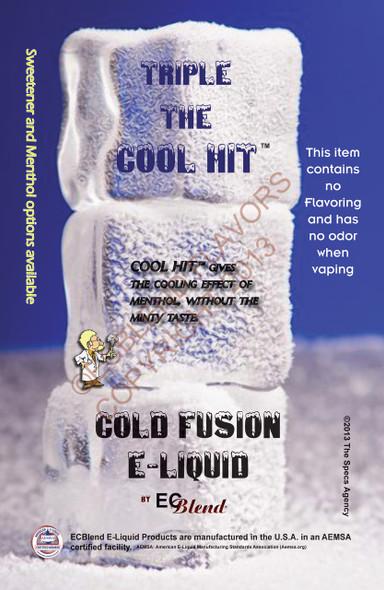 ECBlend Branded Cold Fusion E-Liquid Poster