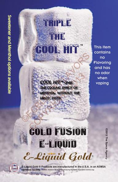 ELiquid Gold Branded Cold Fusion E-Liquid Poster