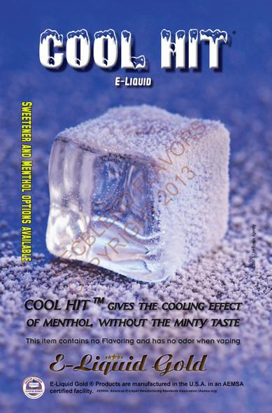 ELiquid Gold Branded Cool Hit E-Liquid Poster
